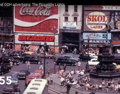 We love out-of-home advertising. Then and now.
